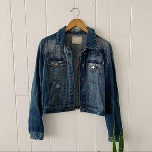 Forever 21 Classic Distressed Denim Jacket